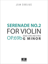 Sibelius, J. - Serenade No.2 in G minor Op.69b for Violin and Orchestra, Score and Parts