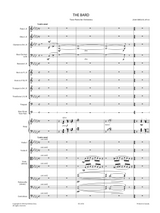 Sheet music for Sibelius, J. - The Bard , Tone Poem for Orchestra Op.64