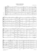 Glazunov, A. - Theme and Variations in G minor for String Orchestra - Sheet Music, Score and Parts.