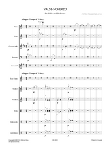 sheet music for Tchaikovsky, P.I. - Valse Scherzo Op.34 for Violin and Orchestra