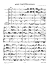 Sheet music for Bach, J.S. - Violin Concerto in A minor No.1 BWV 1041 for Violin and Orchestra