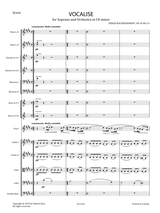 Sheet music Rachmaninoff, S. - Vocalise Op.34 No.14 in C Sharp minor for Soprano and Orchestra