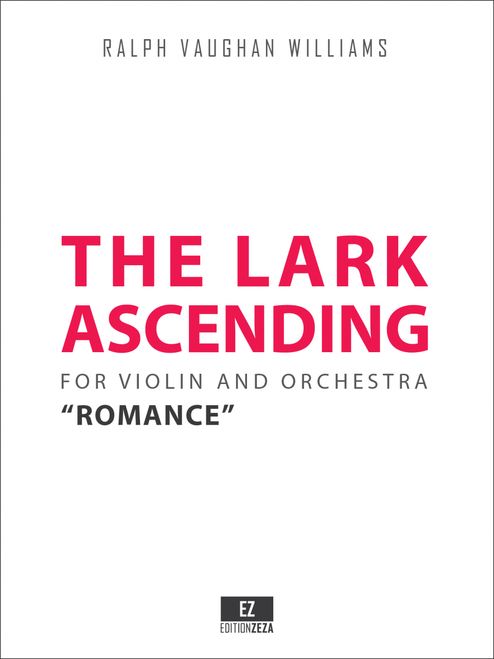 """Vaughan Williams """"The Lark Ascending"""" for Violin and Orchestra, Score and Parts."""