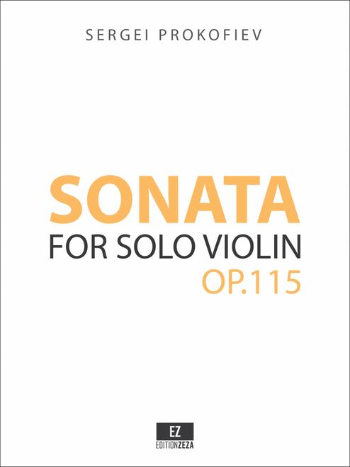Prokofiev Sonata for Solo Violin Op.115 sheet music