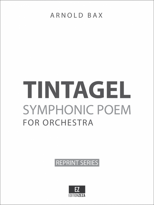 Bax: Tintagel, Symphonic Poem. Set of Orchestral Parts, sheet music