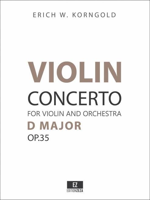 Korngold Violin Concerto Op.35 Sheet Music