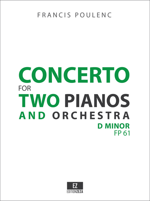 Poulenc Concerto for 2 Pianos and Orchestra - Full Score and Parts