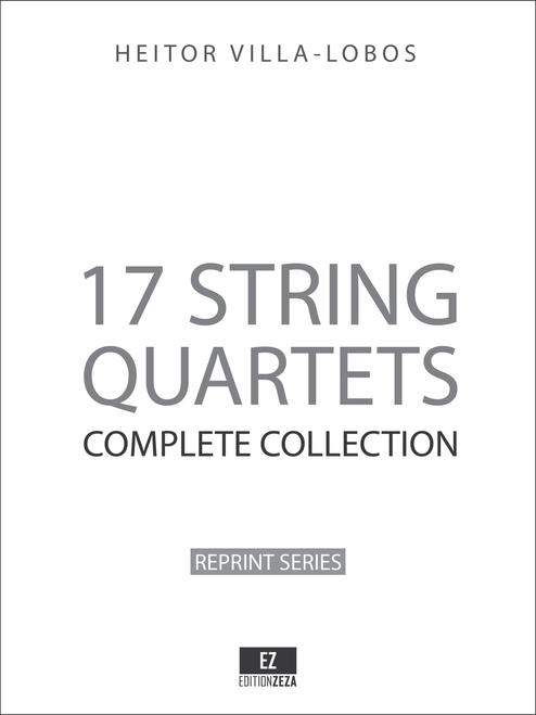 Villa-Lobos 17 String Quartets Complete Collection - Full Score sheet music partitura spartiti noten