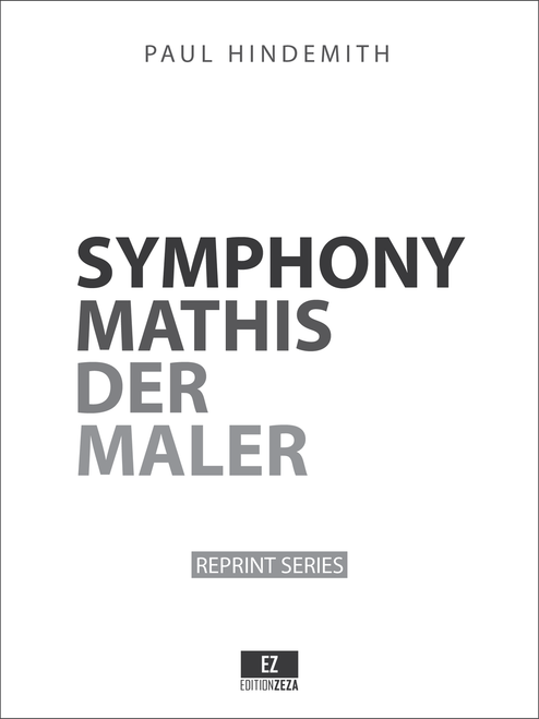 Hindemith Symphony Mathis der Maler, Score and Parts