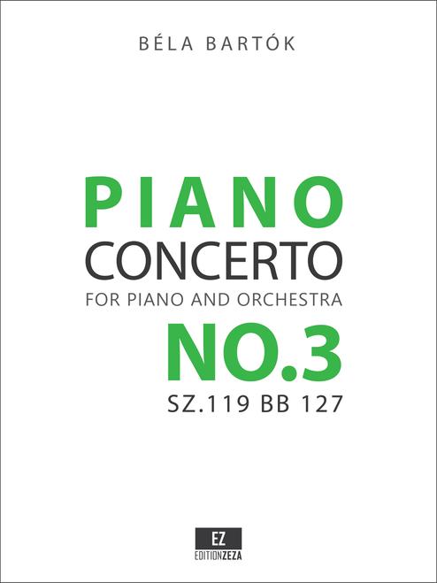 Bartok's Third Piano Concerto, full score and parts