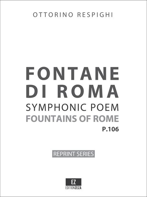 Respighi Fontane di Roma, score and set of parts