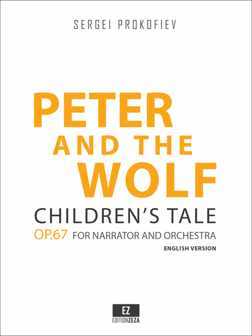 """Prokofiev """"Peter and the Wolf"""" Op.67 Score and Orchestral Parts."""