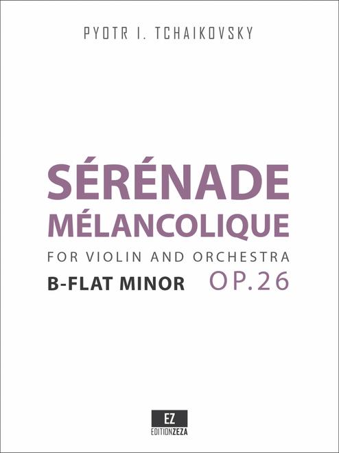 sheet music tchaikovsky serenade melancolique op.26 cover