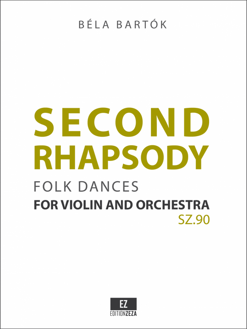 Bartok: Second Rhapsody for Violin and Orchestra SZ.90 (Folk Dances). Orchestral parts and full score.