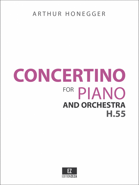 Score & Parts for Honegger: Concertino for Piano and Orchestra