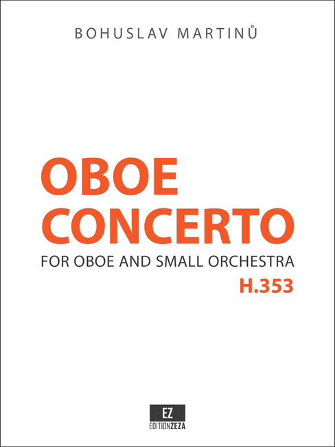 Martinu Concerto for Oboe and Small Orchestra , Score and Parts