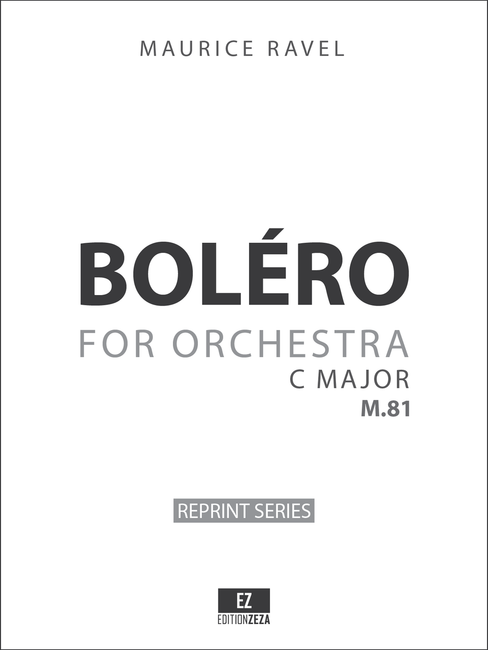 Ravel Bolero M.81 , Set of Orchestral Parts