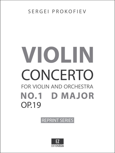 Prokofiev Violin Concerto No.1 Op.19 set of orchestral parts, full score, sheet music