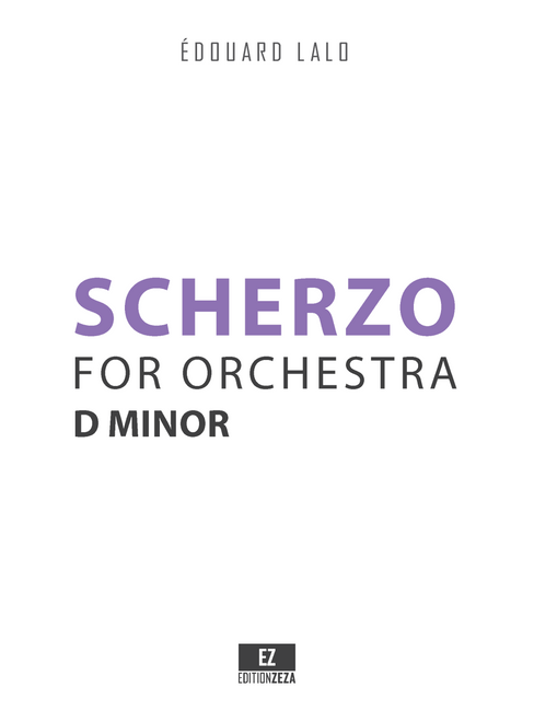 Lalo, E. - Scherzo in D minor for Orchestra , Score and Parts