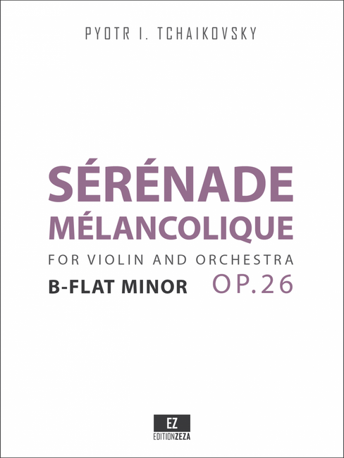 sheet music tchaikovsky serenade melancolique op.26 cover