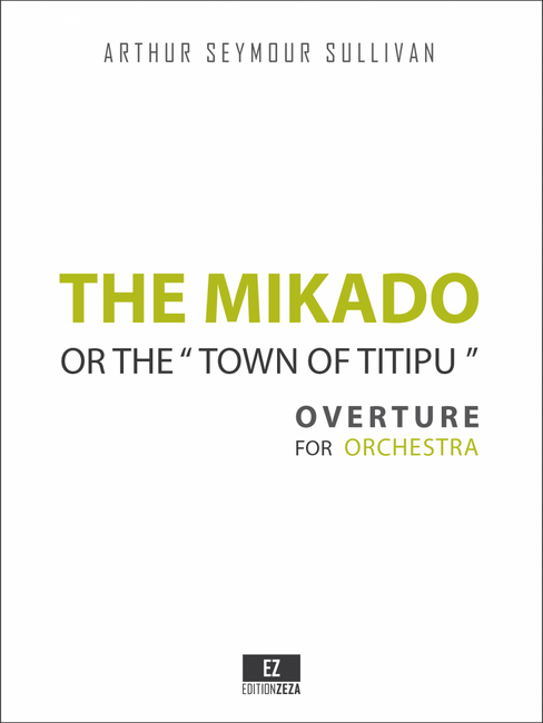 sheet music Sullivan The Mikado Overture cover