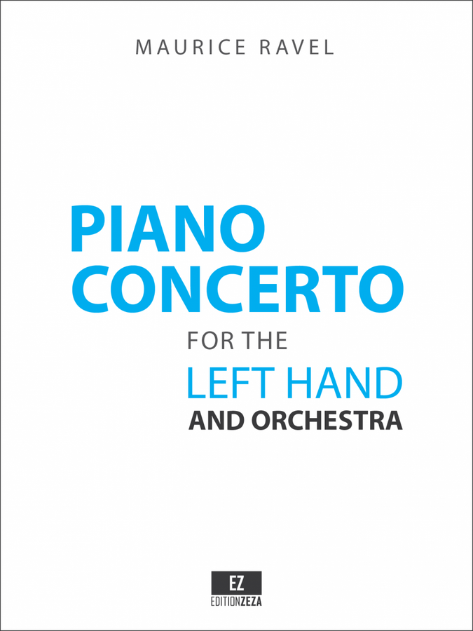 Score and Orchestral parts for Ravel: Piano Concerto for the Left-Hand and Orchestra in D Major M.82