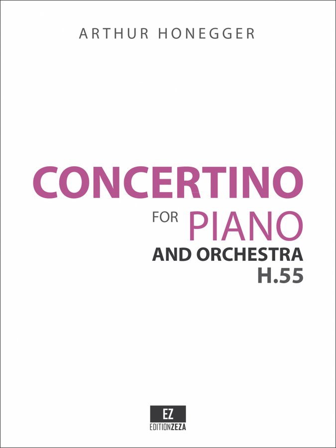Score & Parts for Honegger: Concertino for Piano and Orchestra
