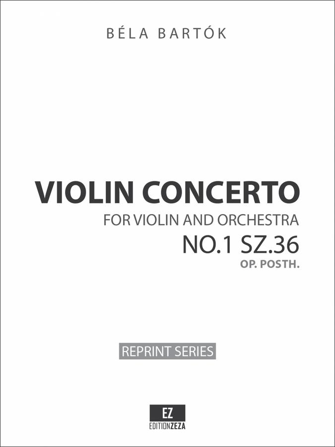 Bartok Violin Concerto No.1 Sz.36 Op. posth. Full Score