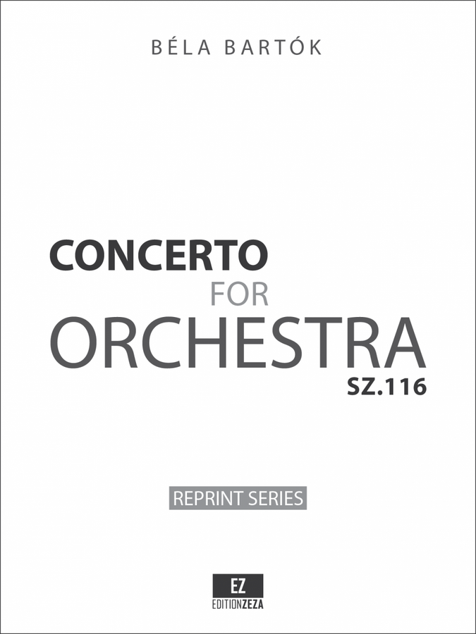 Bartok Concerto for Orchestra, Set of Orchestral Parts