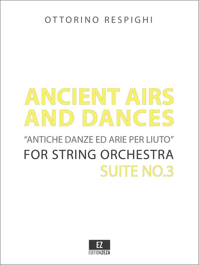 Respighi Ancient Airs and Dances Suite No.3 - Score and Parts