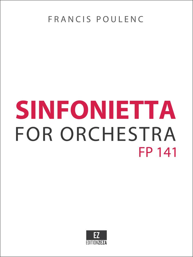 Poulenc Sinfonietta - Score and Parts
