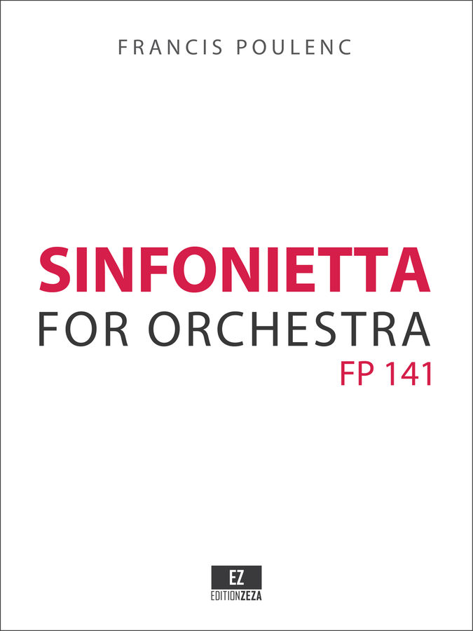 Poulenc Sinfonietta - Score and Parts
