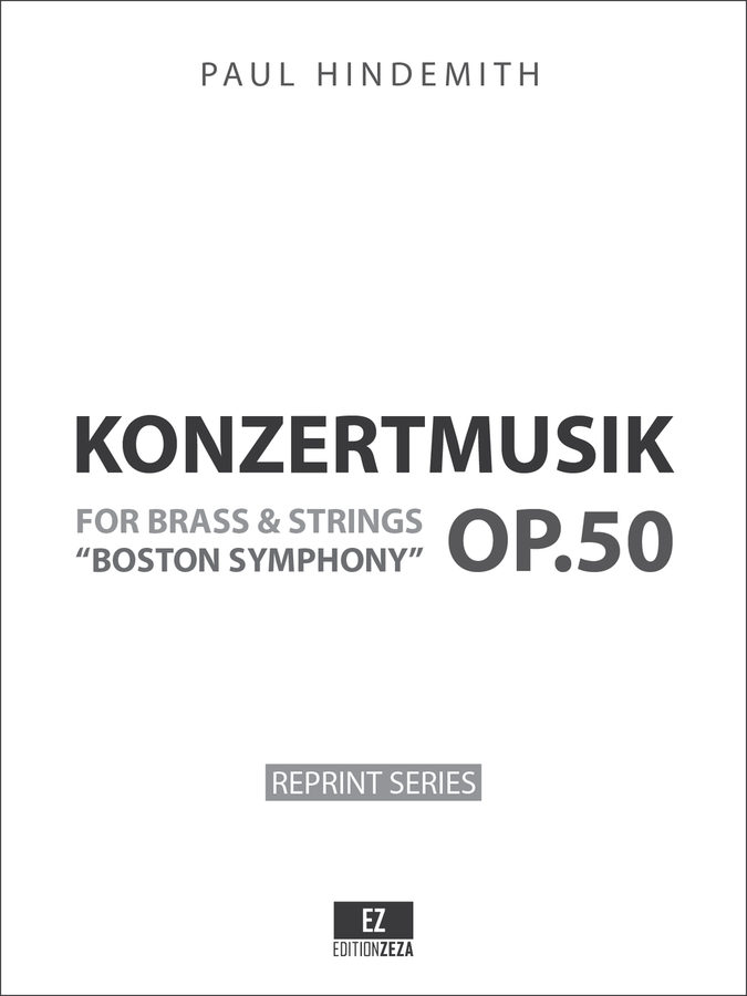Hindemith - Konzertmusik Op.50 Score and Parts