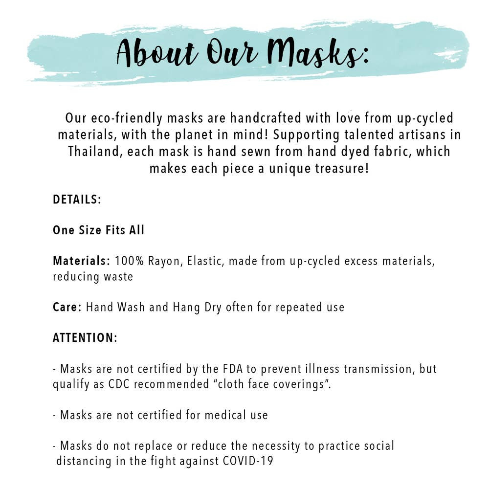 Lotus and Luna Wide Face Mask About Info