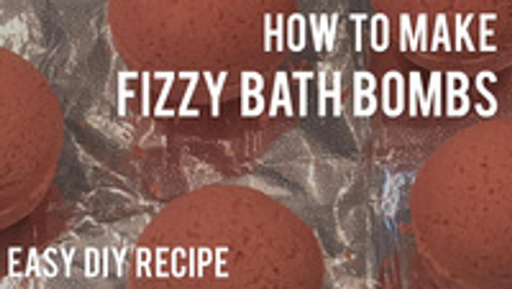 How to Make Fizzy Bath Bombs - Easy DIY Recipe