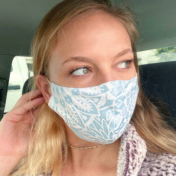 Lotus and Luna Wide Face Mask - Cayman