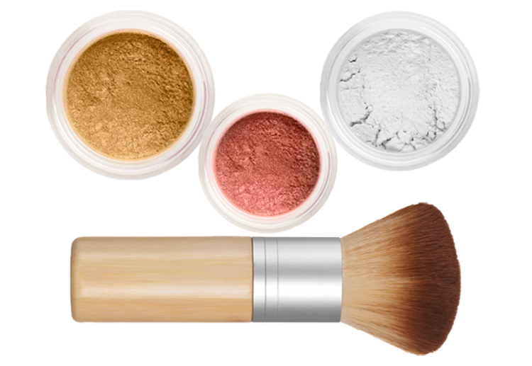 Sheer Miracle Mineral Makeup Starter Kit | Mineral Foundation, Finishing Powder and Blush plus Eco-Friendly Vegan Bamboo-ki Brush