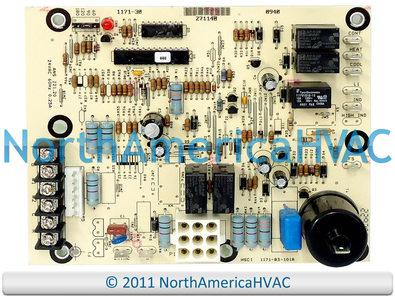Luxaire York Coleman Evcon Defrost Control Board 67297 1157-902 1157-83-902B