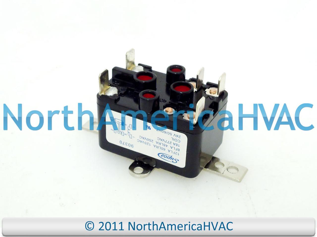 York Coleman Luxaire 24v Furnace Relay 72303281 7230-3281 63132281  6313-2281 - North America HVACNorth America HVAC