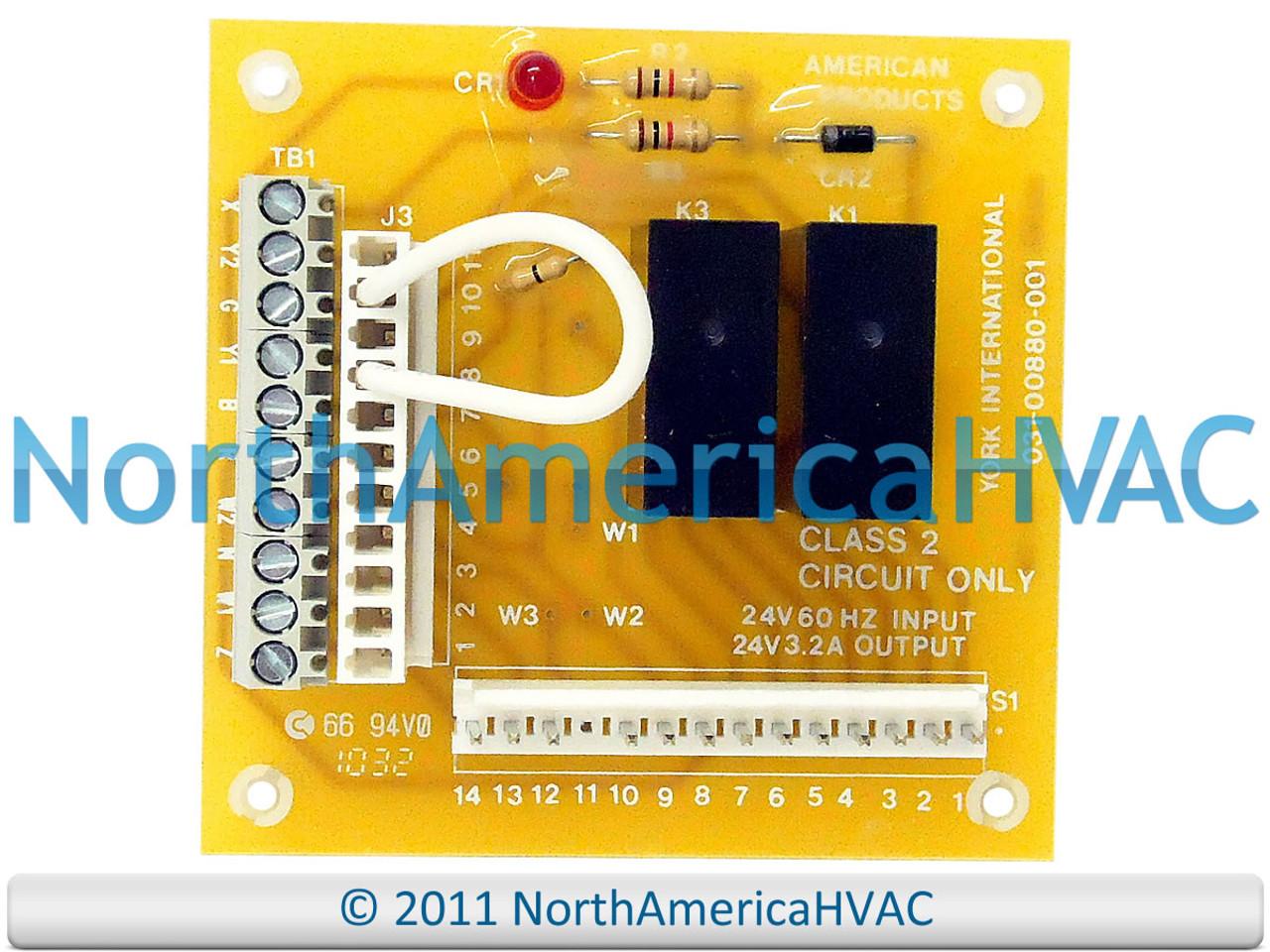 York Coleman Control Board 031-00880-004 031-00880-006