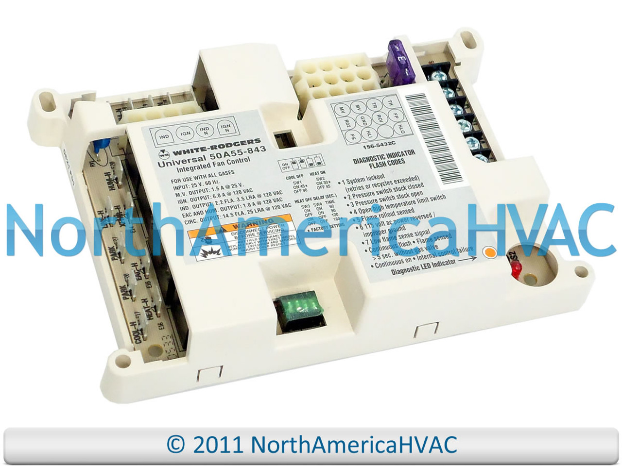 Luxaire York Coleman White Rodgers Furnace Control Board 50A50 241 031-01266-000