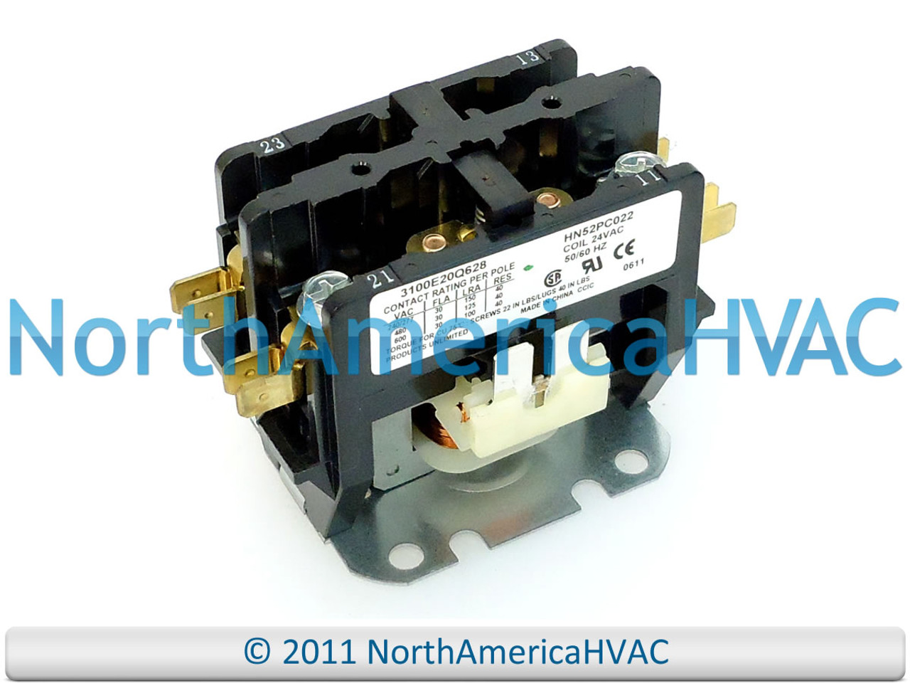 1 Pole 30 Amp Replacement Condenser Contactor HN51KC024 by Payne Payne Single Pole