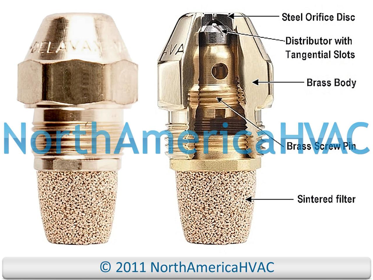 Oil Burner Nozzle Delavan 0.85 GPH 80 Degrees Hollow Cone A H AH NS PL USA