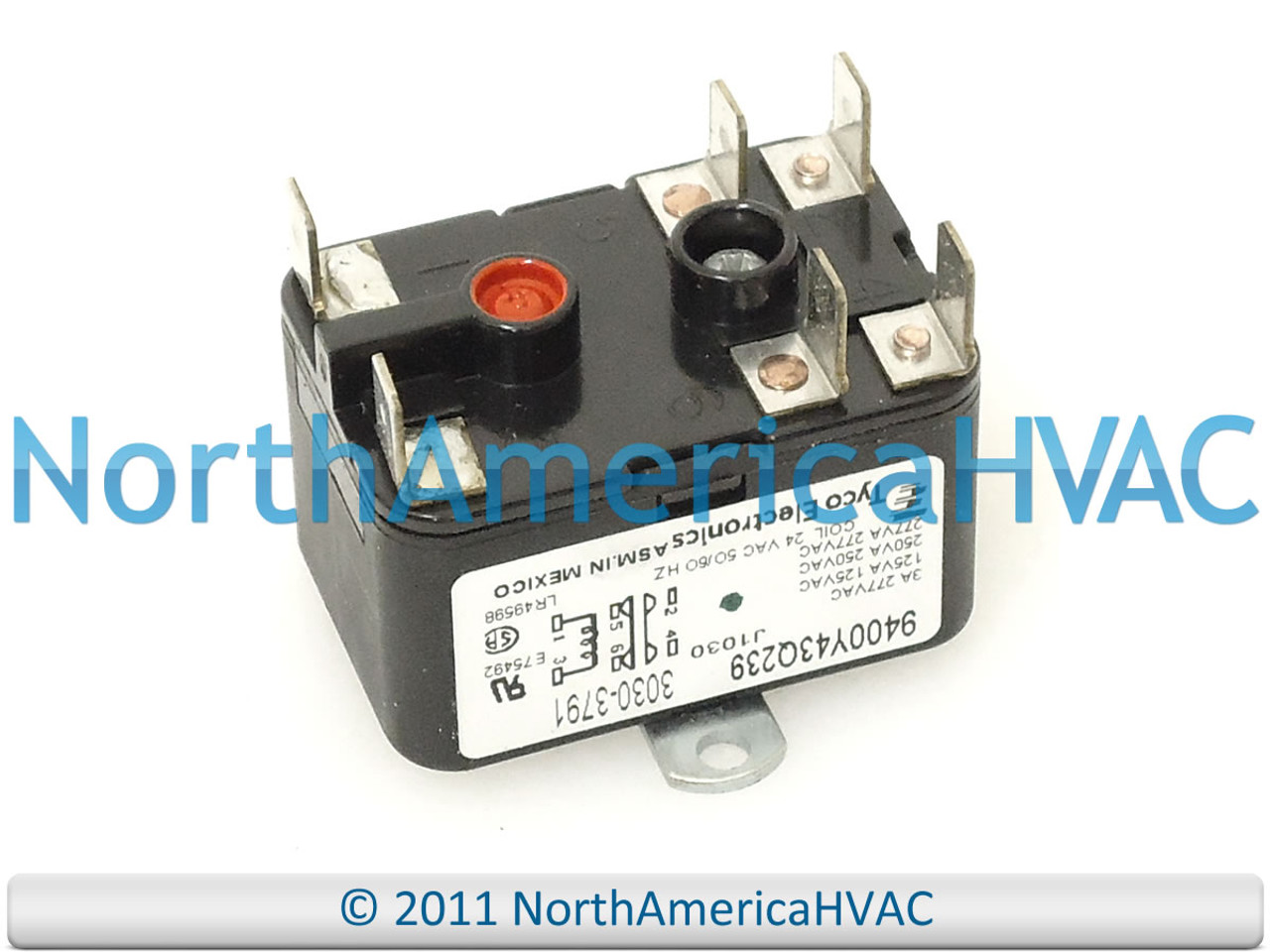 OEM Tyco Electronics York Luxaire Coleman Furnace Blower Fan Relay  9400Y43Q239 - North America HVACNorth America HVAC