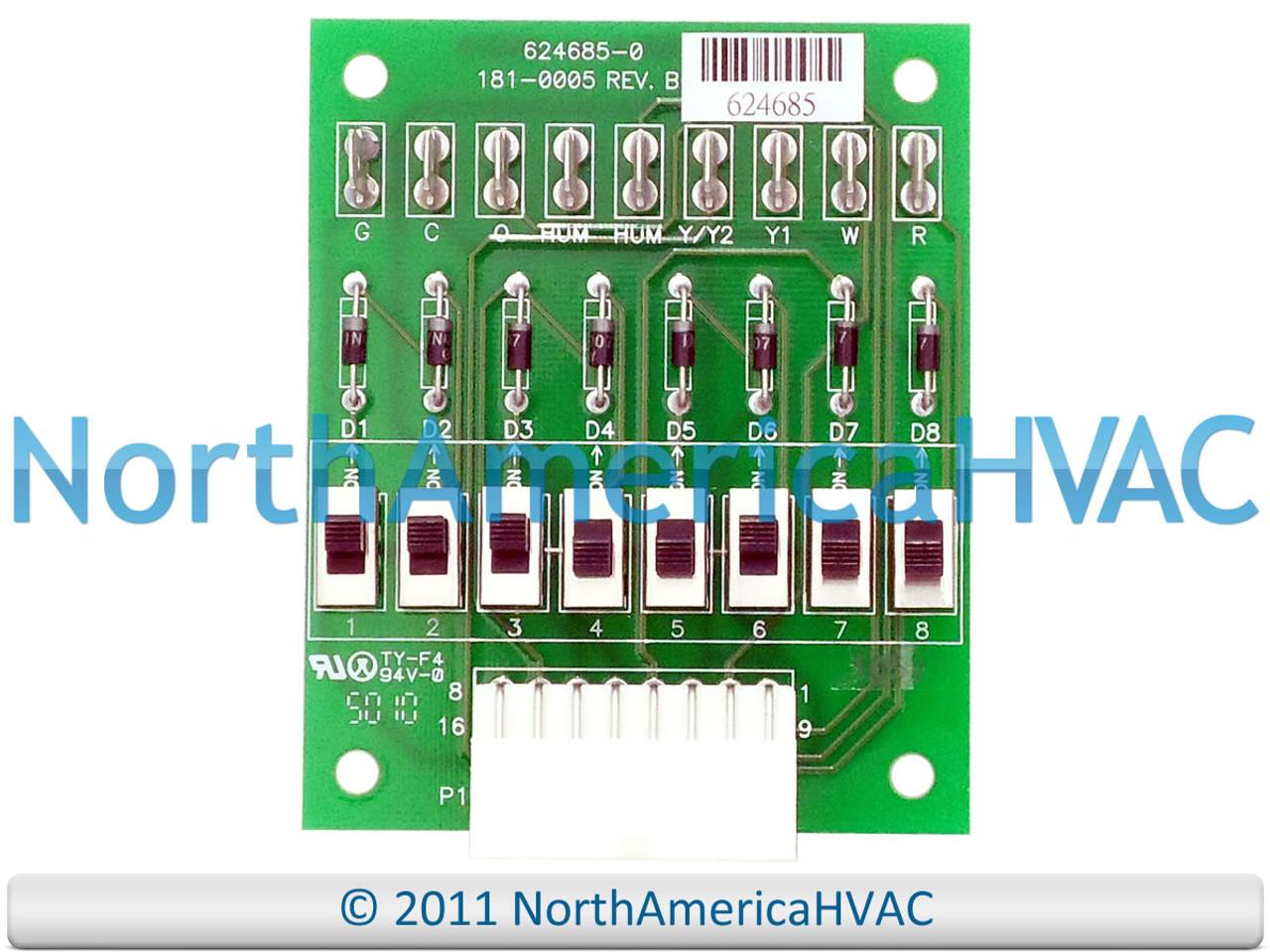 Nordyne Tappan Maytag OEM Furnace Control Circuit Board 624685-0 624685