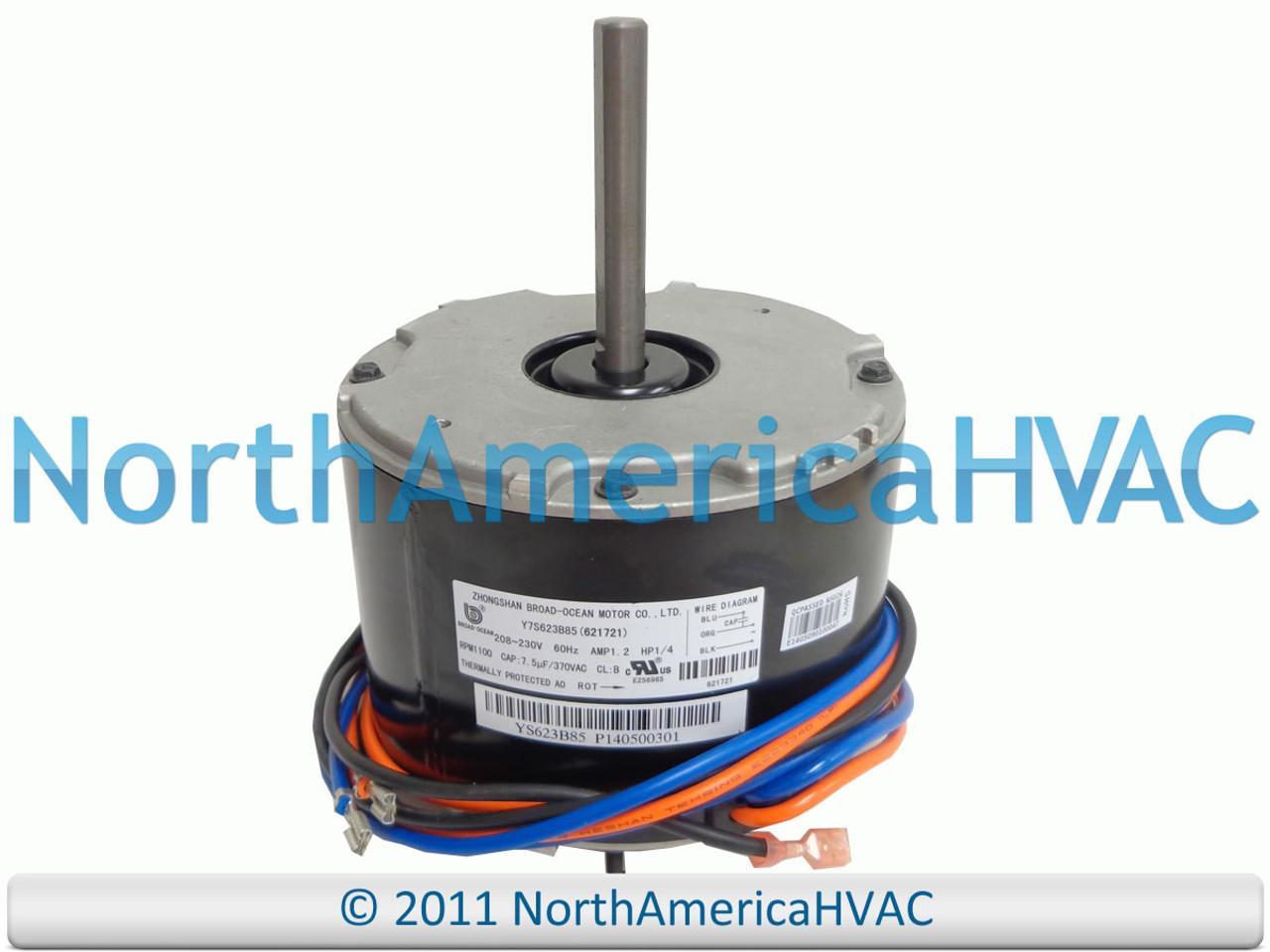[DIAGRAM_38DE]  OEM Nordyne Intertherm Miller Condenser FAN MOTOR 1/4 621721 6217210  208-230v - North America HVAC | Intertherm Wiring Diagram Condenser |  | North America HVAC