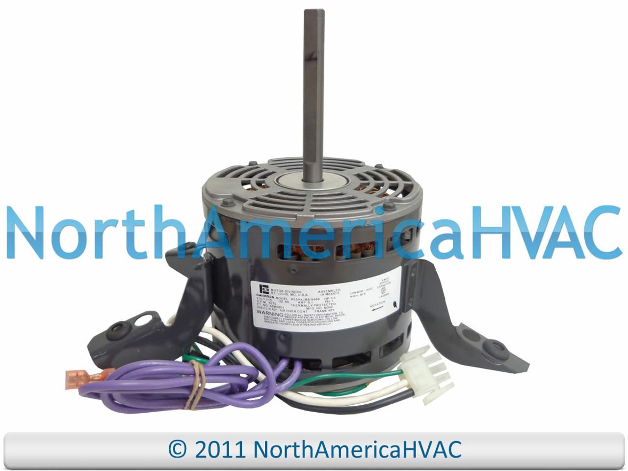 OEM Lennox Armstrong 1/3 HP 115 Furnace BLOWER MOTOR K55HXJMS-9466 46M68  46M6801 - North America HVACNorth America HVAC