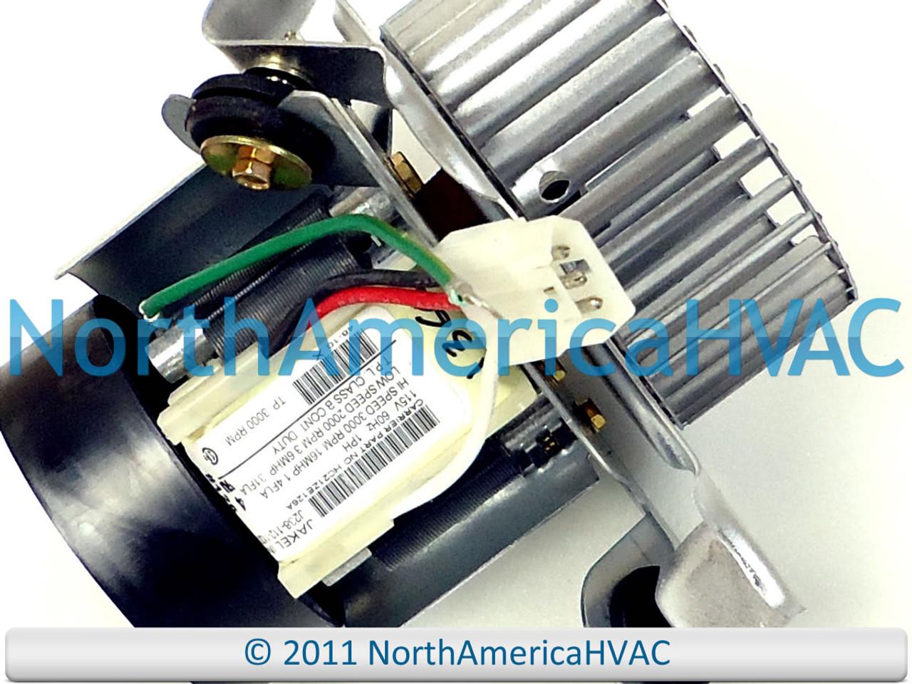 OEM Replacement HC21ZE122 Carrier Furnace Draft Inducer//Exhaust Vent Venter Motor