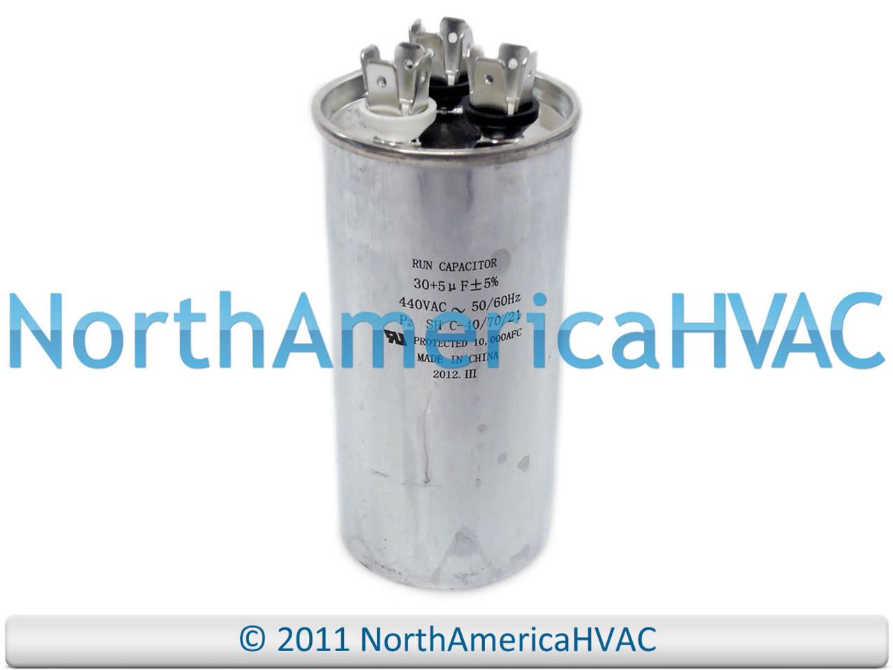 5 MFD 370 440 Volt Supco CR30+5x370R NEW Motor Round Dual Run Capacitor 30