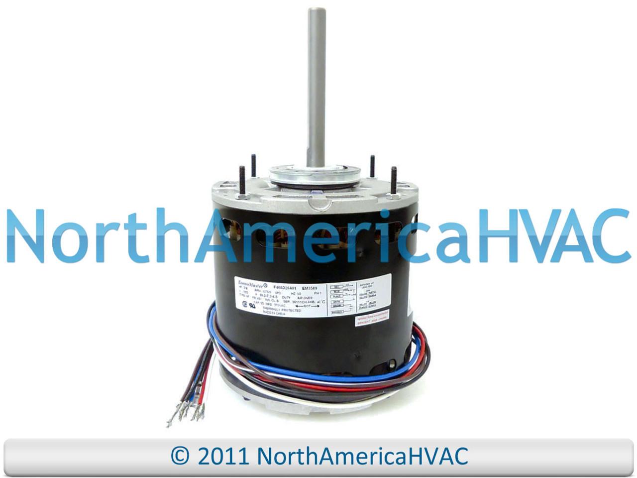NEW EconoMaster Universal Multi-Speed Furnace BLOWER MOTOR 3/4 HP 115 Volt  - North America HVAC | Hvac Variable Speed Blower Wiring |  | North America HVAC